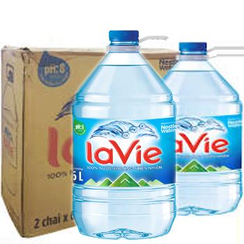 Thùng nước LaVie 6L (2 chai / thùng)
