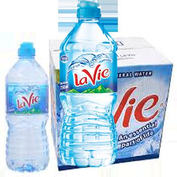 Thùng nước LaVie 750ml (12 chai / thùng)