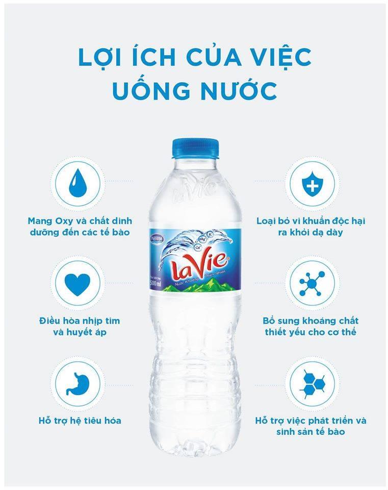 Lợi ích uống nước LaVie