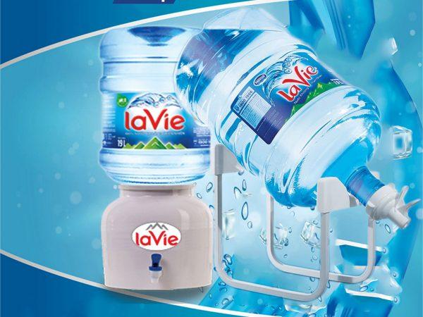 Nước uống đóng bình 20 lít (19L), LaVie sản lượng tiêu thụ lớn nhất